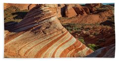 Valley Of Fire Xiv Beach Towel