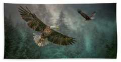 Valley Of The Eagles. Beach Towel by Brian Tarr