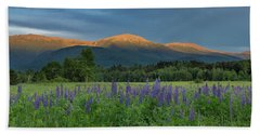 Valley Way Lupine Sunset Beach Towel