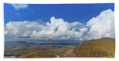 Valleys And Mountains In County Kerry On A Summer Day Beach Sheet by Semmick Photo