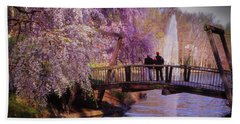 Van Gogh Bridge - Reston, Virginia Beach Towel