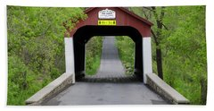 Van Sandt Covered Bridge - Bucks County Pa Beach Towel