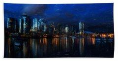 Vancouver At Dusk Beach Towel