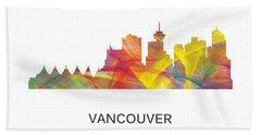 Vancouver B.c. Skyline Beach Towel