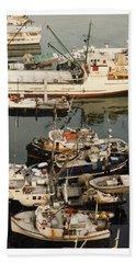 Beach Towel featuring the photograph Vancouver Harbor Fishin Fleet by Jack Pumphrey