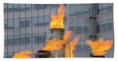 Vancouver Olympic Cauldron 2 Beach Sheet by Ross G Strachan