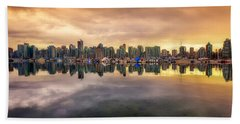 Beach Sheet featuring the photograph Vancouver Reflections by Eti Reid