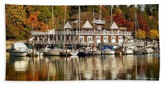 Vancouver Rowing Club In Autumn Beach Towel