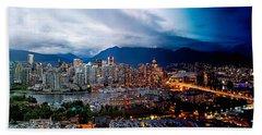 Vancouver Skyline - 4 Hours Beach Towel