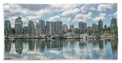 Vancouver Skyline Beach Sheet by Patricia Hofmeester