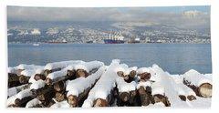 Vancouver Winter Beach Sheet