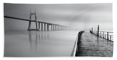 Beach Towel featuring the photograph Vanishing by Jorge Maia