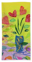 Vase Full Of Love Beach Sheet