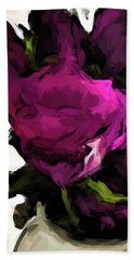 Vase Of Roses With Shadows 2 Beach Towel