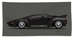 Vector W8 Twin Turbo Black Beach Towel