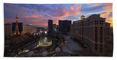 Vegas By Night Beach Towel