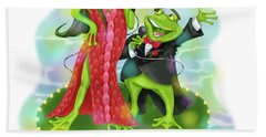 Vegas Frogs Lounge Act Beach Towel