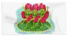 Vegas Frogs Showgirls Beach Sheet
