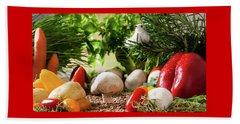Vegetable Garden Beach Towel