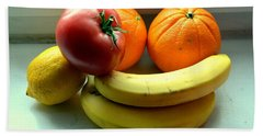 Vegetables And Fruits Beach Sheet