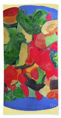 Beach Towel featuring the painting Veggies Two by Sandy McIntire