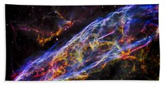 Veil Nebula - Rainbow Supernova  Beach Towel