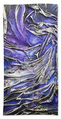 Beach Towel featuring the mixed media Veiled Figure by Angela Stout