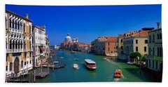 Beach Towel featuring the photograph Venetian Highway by Anne Kotan