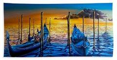 Venetian Lights 7 Beach Towel