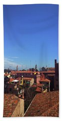 Beach Towel featuring the photograph Venetian Skyline by Anne Kotan