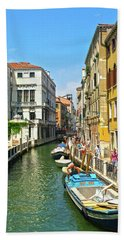 Beach Sheet featuring the photograph Venetian Sunshine by Anne Kotan