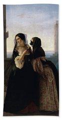 Beach Towel featuring the painting Vengeance Is Sworn by Francesco Hayez