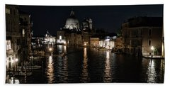 Venice At Night Beach Sheet