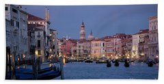 Venice Blue Hour 2 Beach Towel by Heiko Koehrer-Wagner