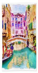 Venice Canal 2 Beach Towel