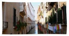 Venice Canal Beach Towel