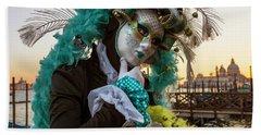 Beach Towel featuring the photograph Venice Carnival II '17 by Yuri Santin