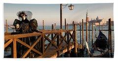 Beach Towel featuring the photograph Venice Carnival IIi '17 by Yuri Santin