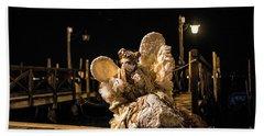 Venice Carnival V '17 Beach Sheet by Yuri Santin