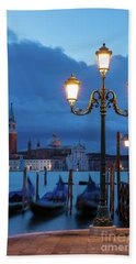 Beach Towel featuring the photograph Venice Dawn V by Brian Jannsen