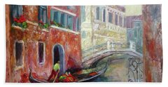 Venice Gondola Ride Beach Towel