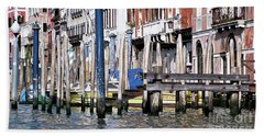 Beach Sheet featuring the photograph Venice Grand Canal by Allen Beatty