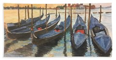 Beach Towel featuring the painting Venice by Lucia Grilletto