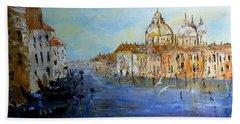 Venice Oil Sketch  Beach Towel