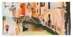 Venice On Waters Beach Sheet