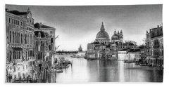 Venice Pencil Drawing Beach Towel