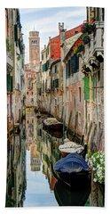 Venice Reflections Beach Towel