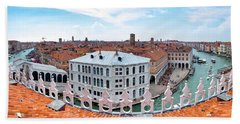 Beach Towel featuring the photograph Venice Rooftops by Fabrizio Troiani