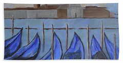 Beach Towel featuring the painting Venice by Victoria Lakes
