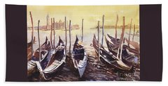 Beach Towel featuring the painting Venice Watercolor- Italy by Ryan Fox